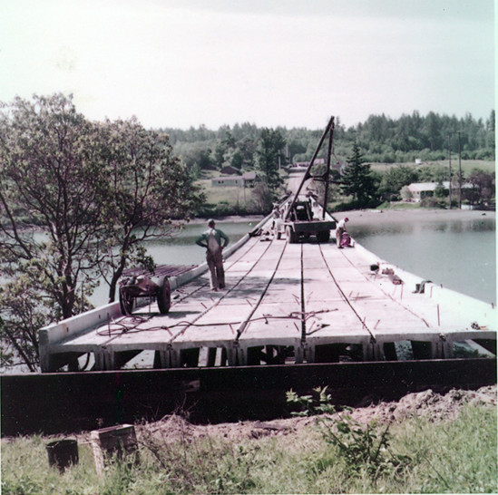 Concrete Deck of Raft Island Bridge constructed in 1958