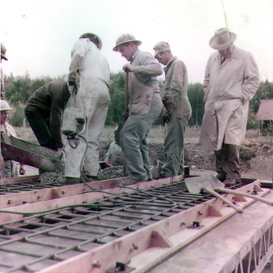 Raft Island Bridge construction in 1958