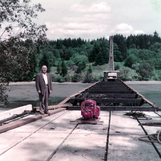Raft Island Bridge under construction
